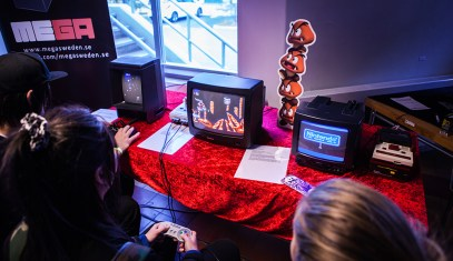 Vectrex & Famicom Disk System at Retrospelsfestivalen 2015