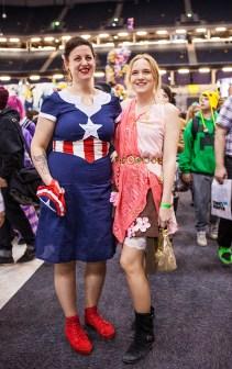 Captain America girls - ComicCon Gamex 2015