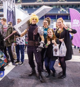 Cloud Cosplayer from FF7 - ComicCon Gamex 2015