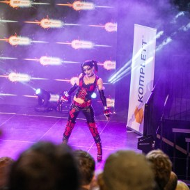 Harley Quinn cosplay - ComicCon Gamex 2015