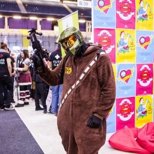 Master chiefbacca cosplay - ComicCon Gamex 2015