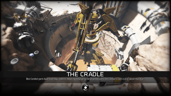 The Cradle loading screen - ReCore