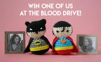 Batmn & Superman mother's day blood drive