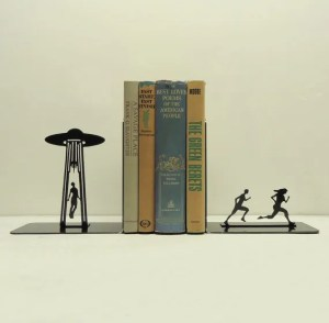 "The ""Alien abduction"" bookends are only one example from Knob Creek Metal Arts."