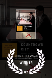 Philip K. Dick Award on the cover of Countdown City