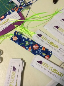 Geeky Bookmarks with ribbons