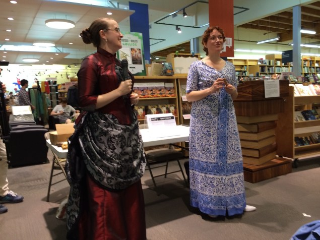 Authors Mary Robinette Kowal and Marie Brennen in costume