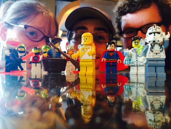 GeekyLibrary with Lego Minifigs