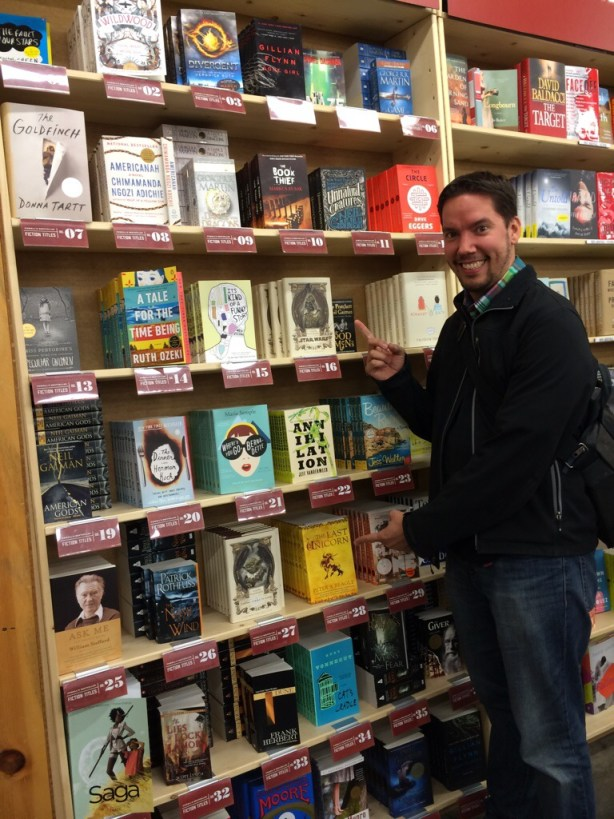 Ian Doescher and Powell's Best-Seller shelf