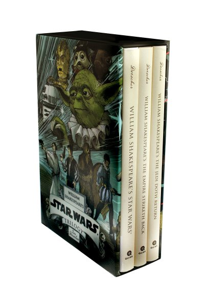 Boxed set of William Shakespeare's Star Wars trilogy. ($45, Powell's Books)