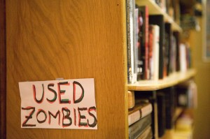 Used Zombies book sign at Tsunami Books