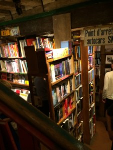 Shakespeare & Co interior from stairs