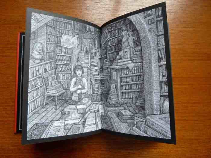 Hugo Cabret inside illustration