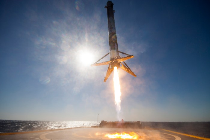 The photos released by SpaceX of the landing are spectacular.
