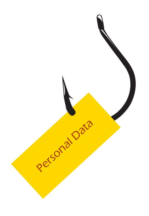 illustration showing personal data as bait