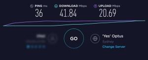 Optus Home Broadband Speed Test