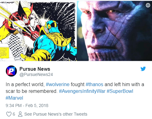Did Wolverine Give Scars To Thanos In Avengers: Infinity War