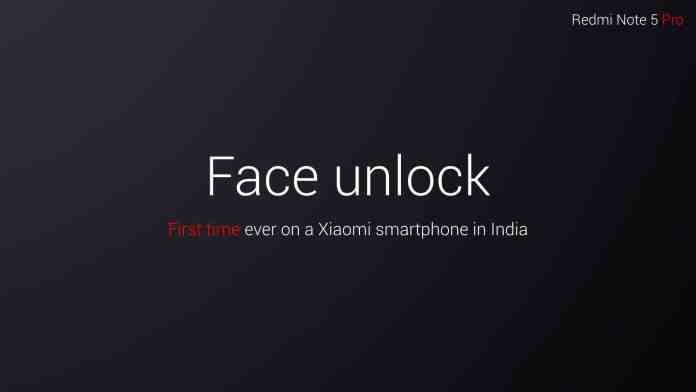 face unlock on redmi note 5