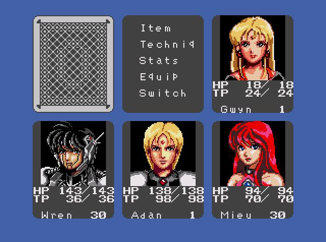 Phantasy Star III Generations of Doom Character Portraits