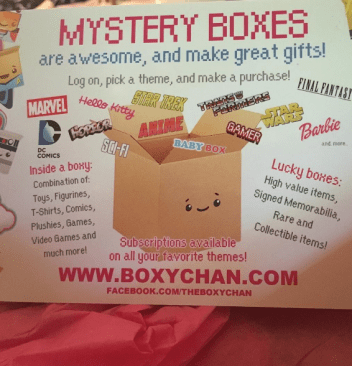 Boxychan Monthly Anime Subscription Box - Box Opening - Photos - Review