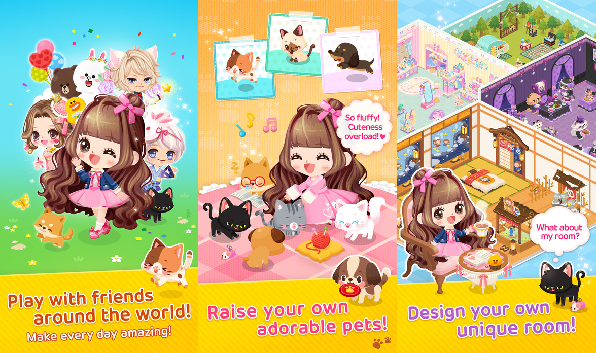 Line Play Free Anime Dressup Game Like Gaia Online for IOS