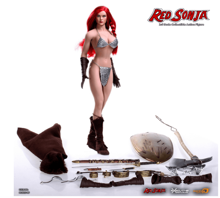 Phicen feamles 1/6 scale Red Sonja figure
