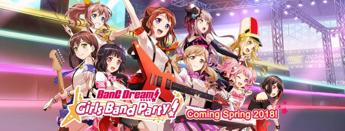 BanG Dream Girls Band Party - English Release in Spring 2018