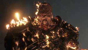 RE3 Nemesis Burning