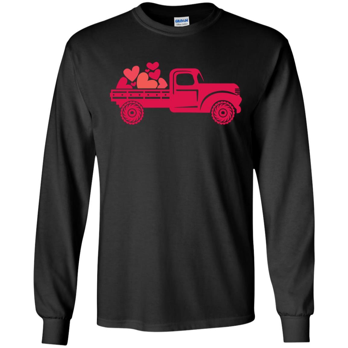 Full Truck Heart Gildan LS Ultra Cotton T-Shirt