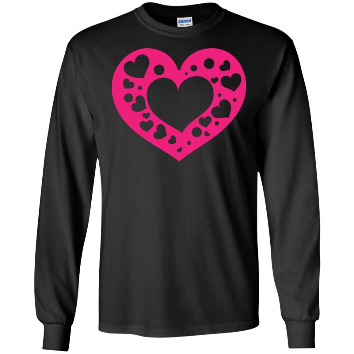 Big Heart Gildan LS Ultra Cotton T-Shirt