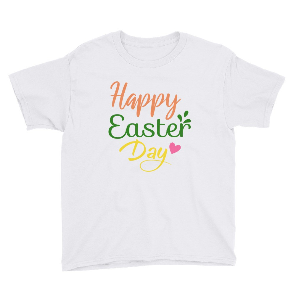 Easter - Happy Easter Day Youth Short Sleeve T-Shirt