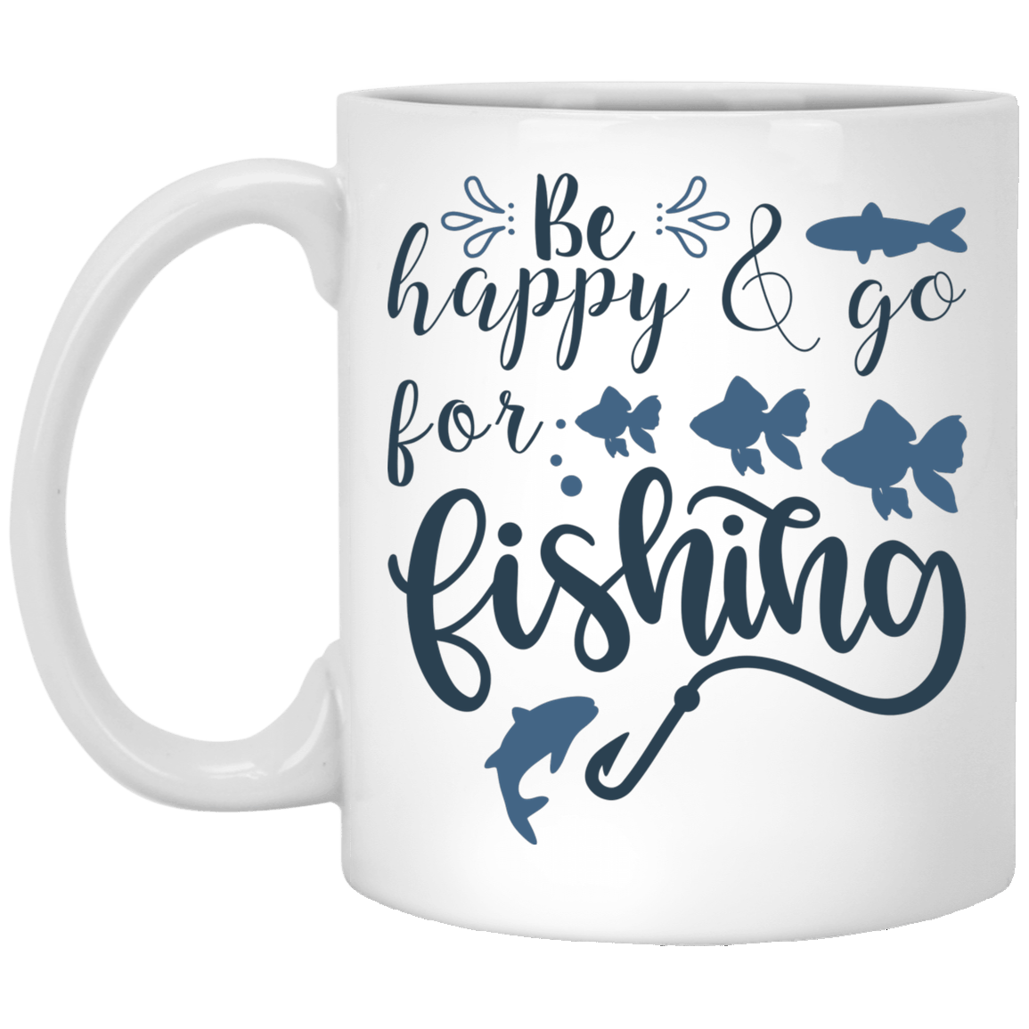 Superior Fishing Slogan White Mug