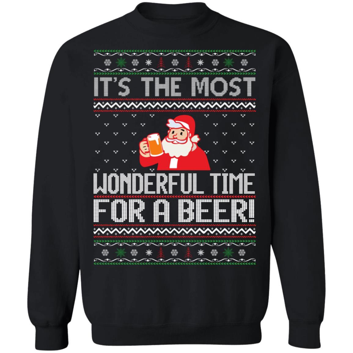 Wonderful Time For Beer Sweatshirt