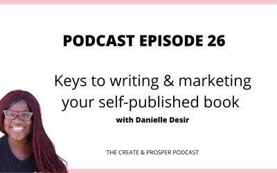 026: Keys to writing and marketing your self-published book with Danielle Desir