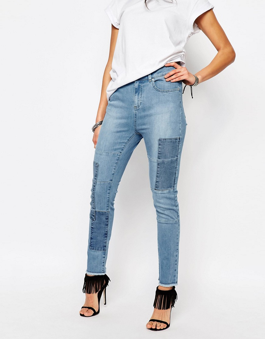 ASOS Northmore Patchwork Skinny Ankle Grazer Jeans £38.00