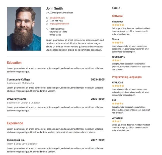 Resume Builder WP