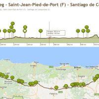 Camino Frances - Geertopweg - Saint-Jean-Pied-de-Port (F) - Santiago de Compostela (S) - Hikingroute