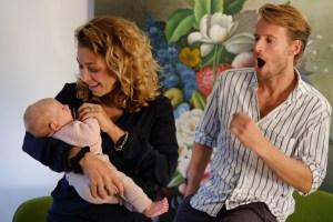 Hanna, baby, tijs en silke