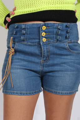 Denim Strap Shorts For Sale