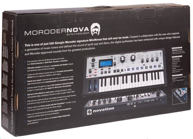 The back of the MoroderNova box. Exciting stuff!