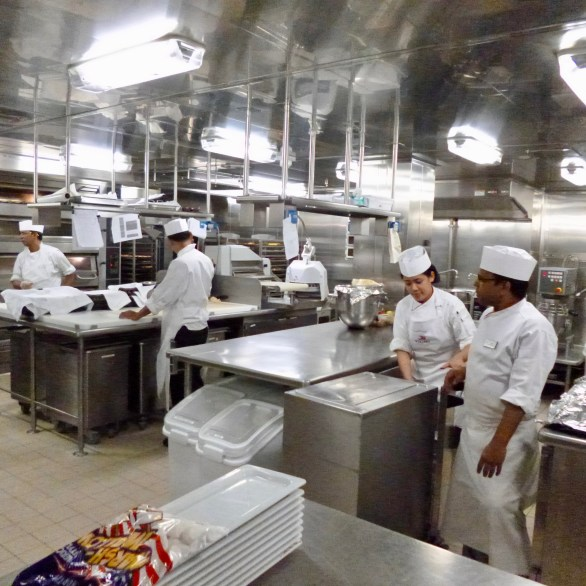 Main Galley on Viking Sun - February 6, 2019.