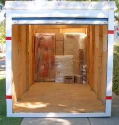 self contained storage and shipping box