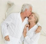 Senior couple after sex
