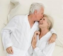 Senior couple after sex