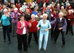 Oldest dancing flash mob