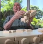 Senior citizen building blocks
