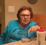 Grandma with Google Home