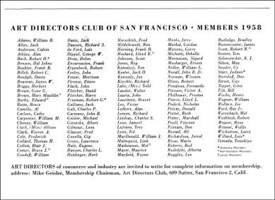 Art Directors Club 1958