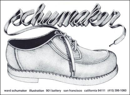 Schumaker Self Promo Shoe Rapidograph