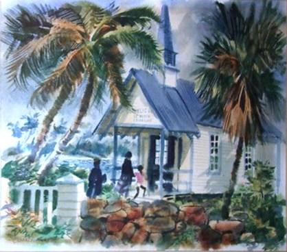 1950s-Kona-Coast-ST-Peter-Catholic-Church-Hawaii